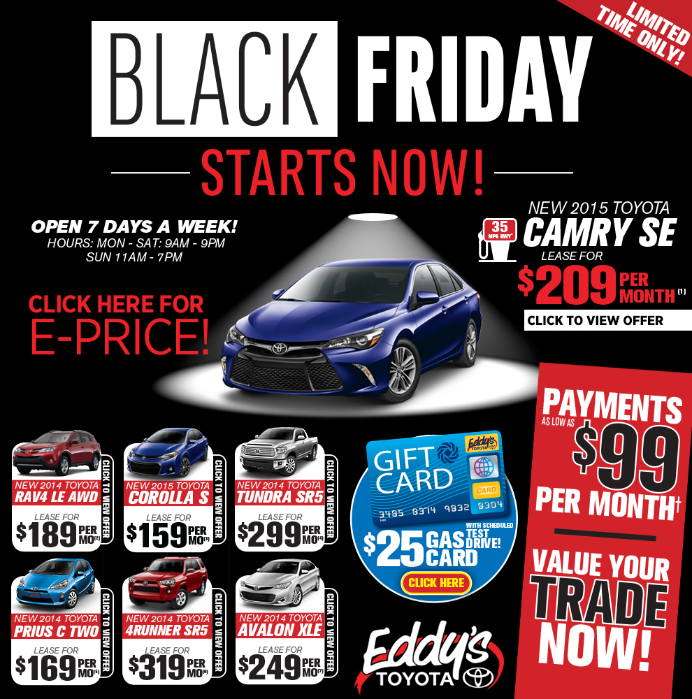 Toyota Event: Eddy's Toyota Early Black Friday Sales Event