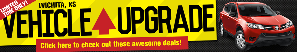 Upgrade your vehicle now for a limited time at Eddy's Toyota in Wichita, KS