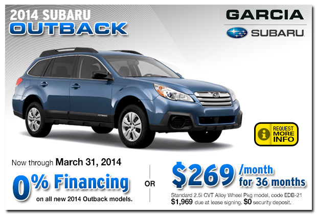 Subaru 2014 Outback Finance & Lease Specials Albuquerque, NM