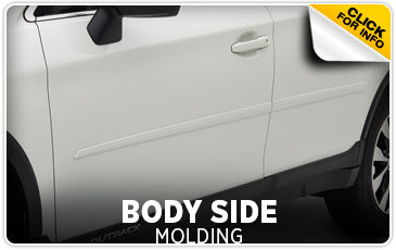 Click for more information on genuine Subaru body side moldings available at Gold Rush Subaru in Auburn, CA