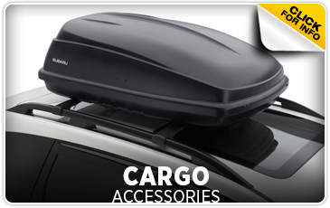 Click for more information on genuine Subaru cargo accessories available at Gold Rush Subaru in Auburn, CA