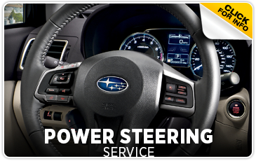 Subaru power steering service Information from Gold Rush Subaru in Auburn serving Sacramento, California