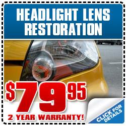 Subaru Headlight Lens Restoration Service Special Discount Coupon serving Auburn, CA