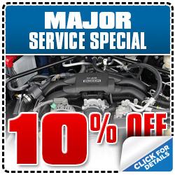 Subaru Major Service Coupon Special Auburn, CA