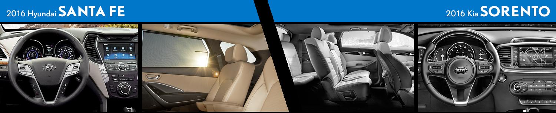 2016 Hyundai Santa Fe vs Kia Sorento Compact SUV Comparison