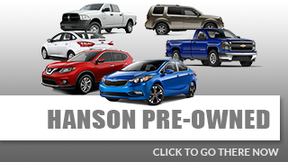 View Our Large Pre-Owned Vehicle Inventory at Hanson Motors
