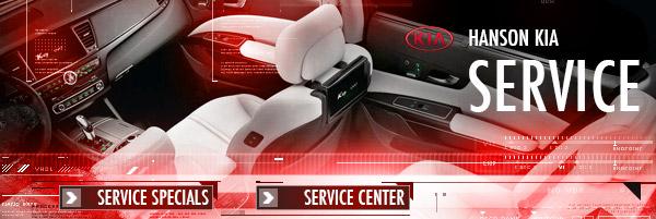 Kia service maintenance specials hanson kia in the for Hanson motors service department