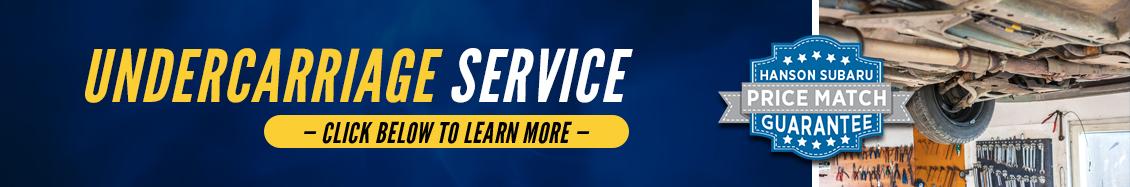 Subaru Undercarriage Services Information at Hanson Subaru