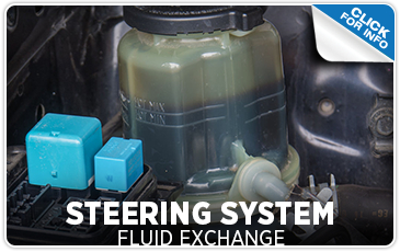Click to View Undercarriage Power Steering Fluid Exchange Information