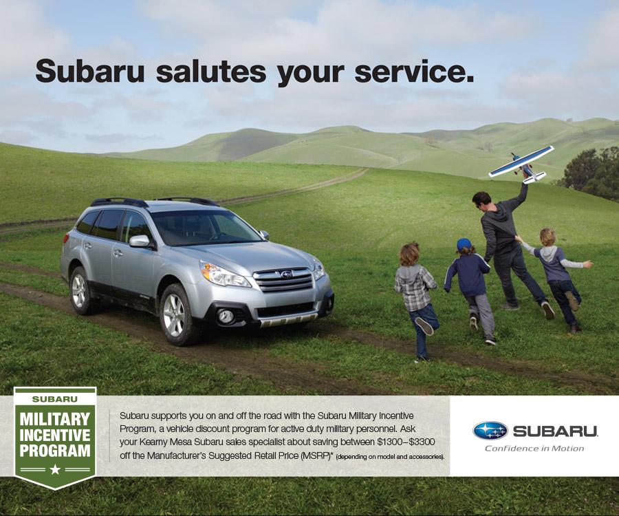 Subaru Military Incentive Program