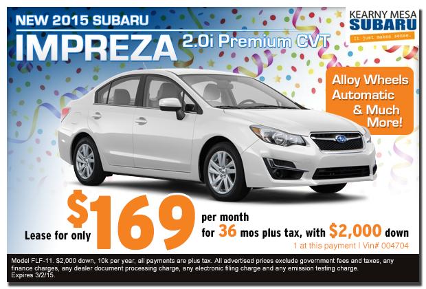 Lease An All New 2015 Subaru Impreza 2 0i Premium Cvt For
