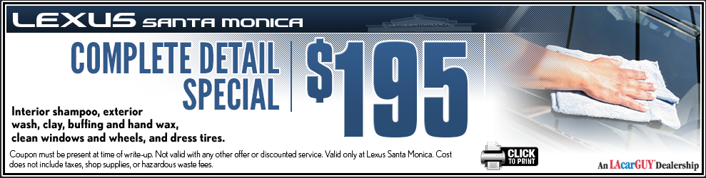 Lexus service discount coupons