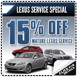 Lexus Santa Monica Mature Vehicle Service Special Discount Coupon Serving  Los Angeles, California ...