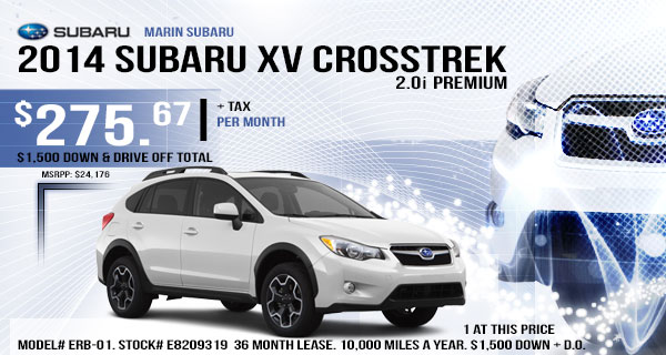 San Rafael New 2013 Subaru XV Crosstrek Premium Lease & Purchase Special Offer serving San Francisco, California