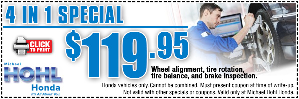 Honda 4 In 1 Service Special Reno Nv Vehicle Repair Maintenance