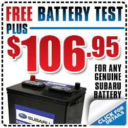 Subaru Battery Test Installation Service Coupon Special Reno, NV