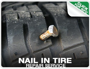 Nail in Tire Repair Service in Denver, Colorado at Mike Shaw Subaru