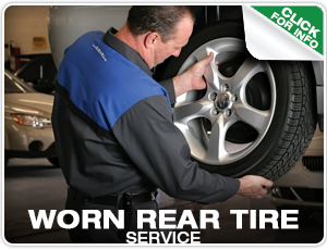 Worn Rear Tire Service at Mike Shaw Subaru in Denver, Colorado