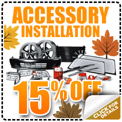 Thornton Subaru Factory Accessory Installation Service Discount Special Coupon serving Denver, Colorado