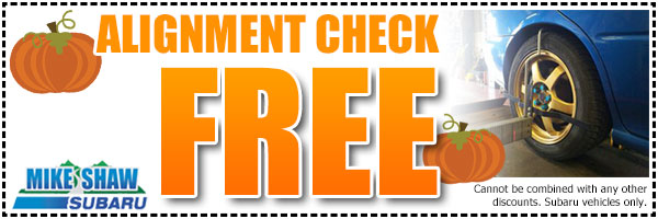 Subaru Alignment Service Coupon Special Denver, Colorado