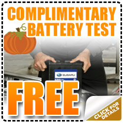 Subaru Battery Test Free Service Coupon Special Denver, CO
