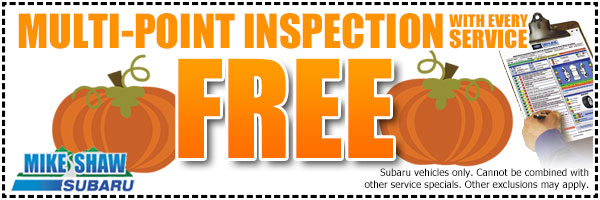 Subaru Free Multi-Point Inspection Service Special in Denver, Colorado