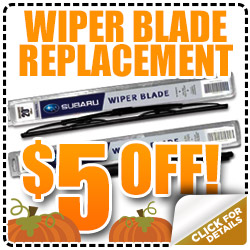 Subaru Wiper Blade Replacement Service Coupon Special Denver, CO