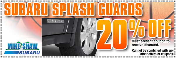 Subaru OEM Splash Guards Parts Special Discount