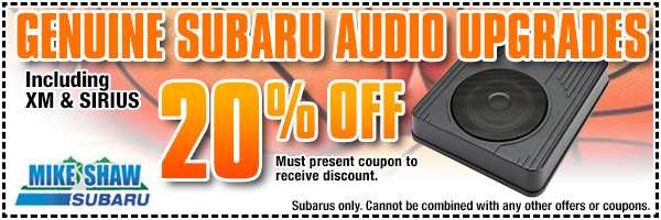 Genuine Subaru Audio Upgrades Parts Special serving Boulder & Thornton, CO
