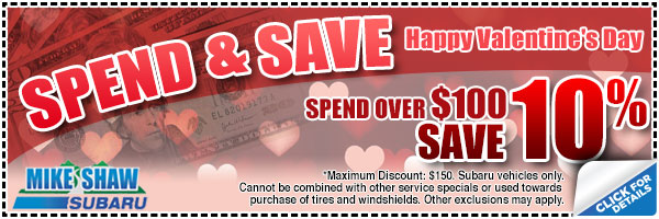 Subaru Spend & Save Service Special serving Longmont & Denver, CO