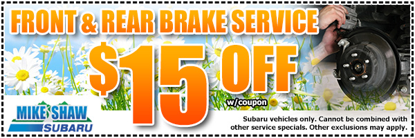 Subaru Brake Inspection & Repair Service Special