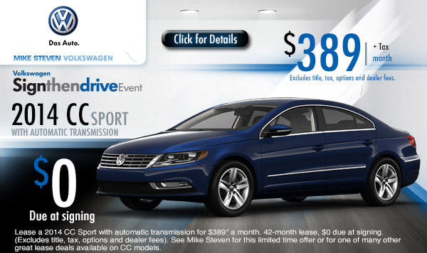 New 2013 Amp 2014 Volkswagen Vehicle Special Offers