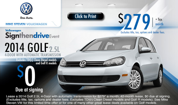 Leasing volkswagen golf