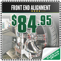 Front end alignment coupons