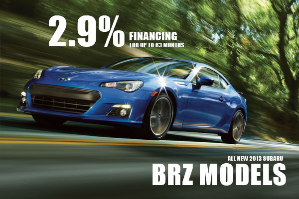 2.9% Financing on New 2013 Subaru BRZ Models in Salt Lake City Utah