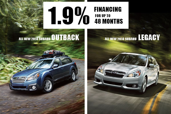 New 2014 Subaru Outback & Legacy Finance Special Offer serving Salt Lake City, Utah