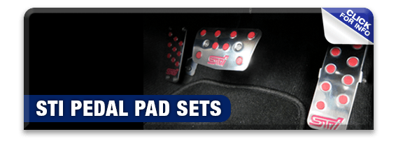 Click to learn more about genuine Subaru performance parts like STI pedal pads available at Nate Wade Subaru in Salt Lake City, UT
