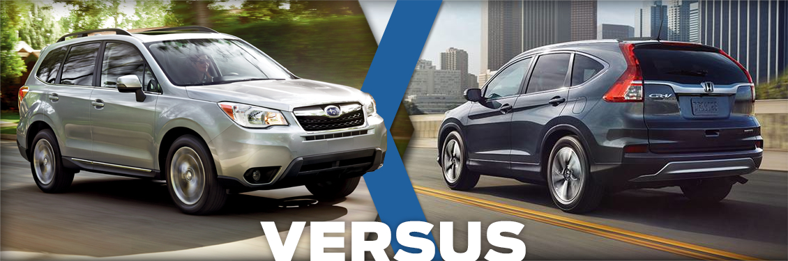 2016 subaru forester vs 2016 honda cr v model comparison for Honda crv vs subaru forester