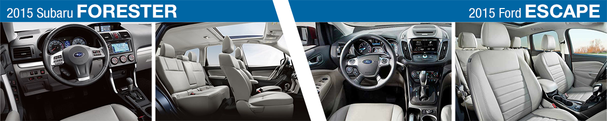 2015 Subaru Forester Vs 2015 Ford Escape Model Comparison Salt Lake City Ut