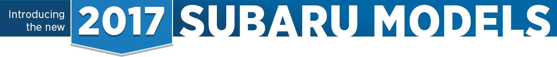 New 2017 Subaru Model Information in Salt Lake City, UT