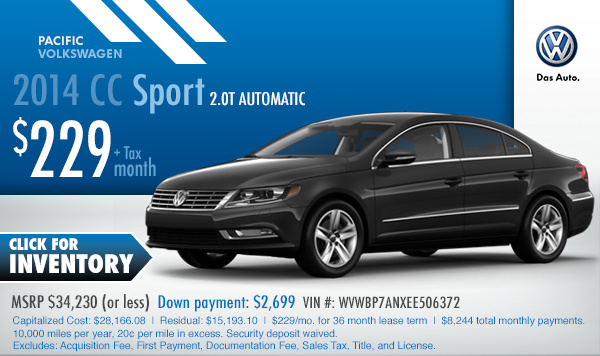 New 2015 Volkswagen Special Sales Offers Los Angeles