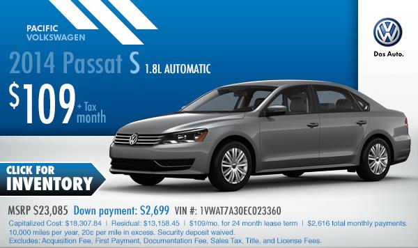 Volkswagen passat cc lease deals