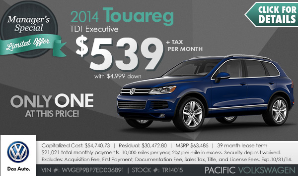 New 2015 Volkswagen Special Sales Offers Los Angeles
