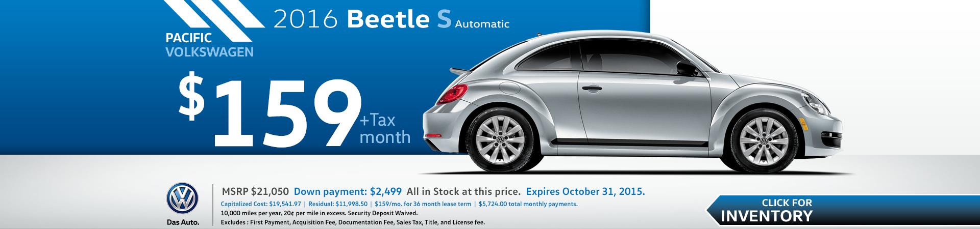 2015 Volkswagen Beetle Lease Special Serving Hawthorne, CA