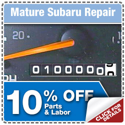 Save on Mature Subaru Service Specials at Puente Hills Subaru serving City of Industry & Fullerton, California