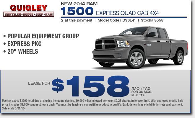 New Ram 1500 Truck Specials Boyertown Lease Amp Sales Deals