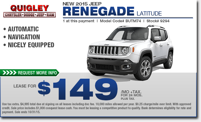 new 2015 jeep renegade specials boytertown pa. Black Bedroom Furniture Sets. Home Design Ideas