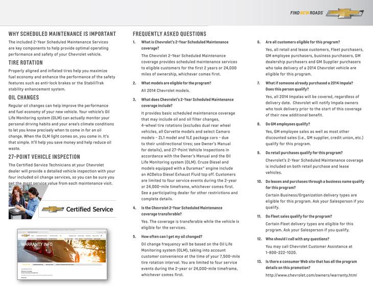 chevrolet 2 year scheduled maintenance plan fayetteville nc. Black Bedroom Furniture Sets. Home Design Ideas