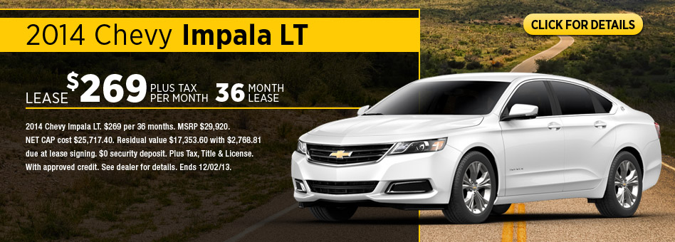2014 Chevrolet Discount & Lease Specials Fayetteville NC
