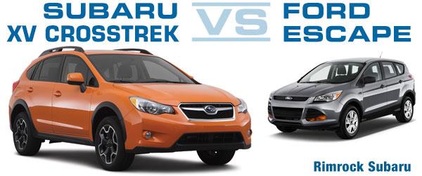 subaru xv crosstrek compared to the 2013 ford escape rimrock subaru